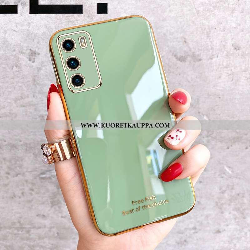 Kuori Huawei P40, Kuoret Huawei P40, Kotelo Huawei P40 Valo Silikoni Ultra Pehmeä Neste Vihreä