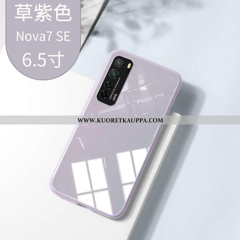 Kuori Huawei P40 Lite 5g, Kuoret Huawei P40 Lite 5g, Kotelo Huawei P40 Lite 5g Lasi Suuntaus Harmaa