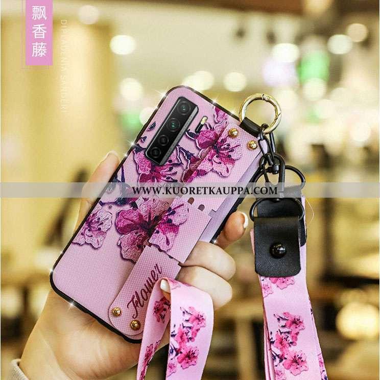 Kuori Huawei P40 Lite 5g, Kuoret Huawei P40 Lite 5g, Kotelo Huawei P40 Lite 5g Nahkakuori Rhinestone