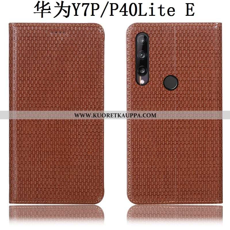 Kuori Huawei P40 Lite E, Kuoret Huawei P40 Lite E, Kotelo Huawei P40 Lite E Kukkakuvio Suojaus Nahka