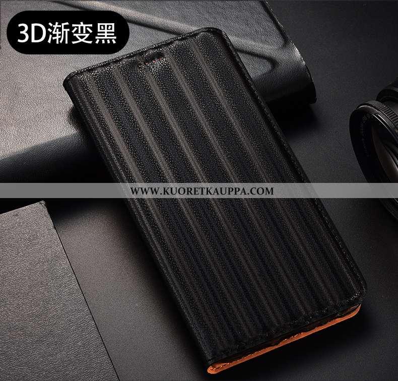 Kuori Huawei P40 Lite E, Kuoret Huawei P40 Lite E, Kotelo Huawei P40 Lite E Suojaus Nahkakuori Musta