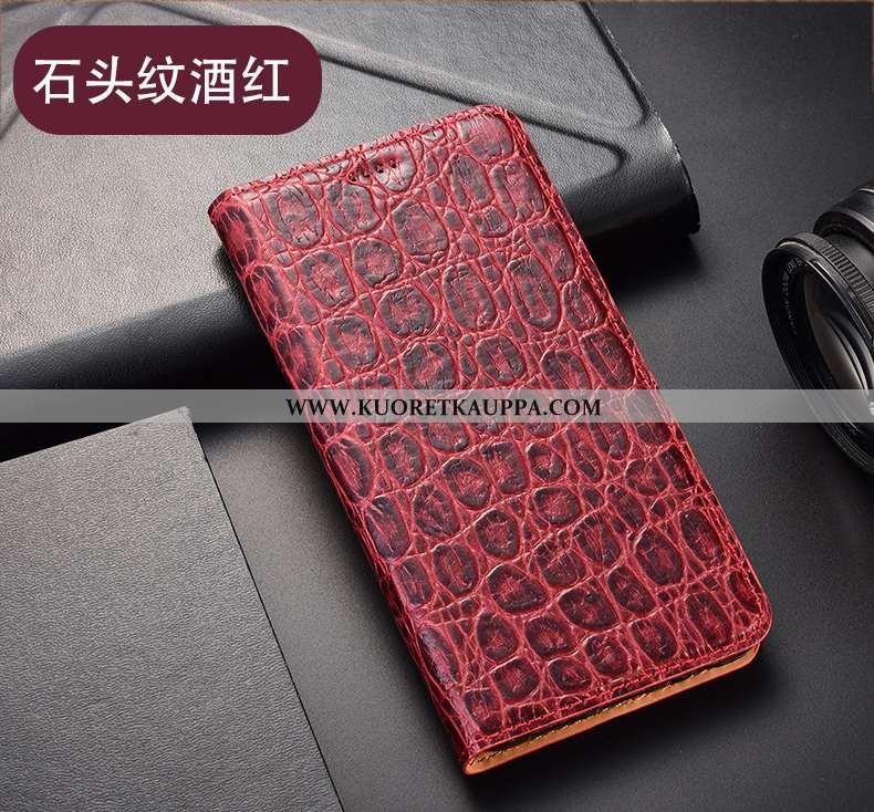 Kuori Huawei P40 Lite E, Kuoret Huawei P40 Lite E, Kotelo Huawei P40 Lite E Suojaus Nahkakuori Viini