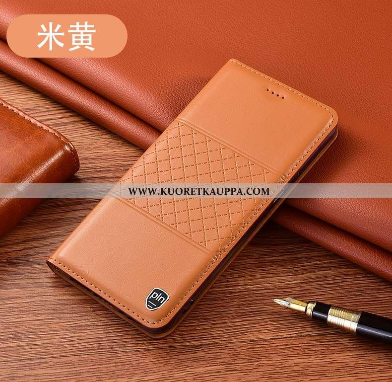 Kuori Huawei P40 Lite, Kuoret Huawei P40 Lite, Kotelo Huawei P40 Lite Nahkakuori Suojaus Keltainen A