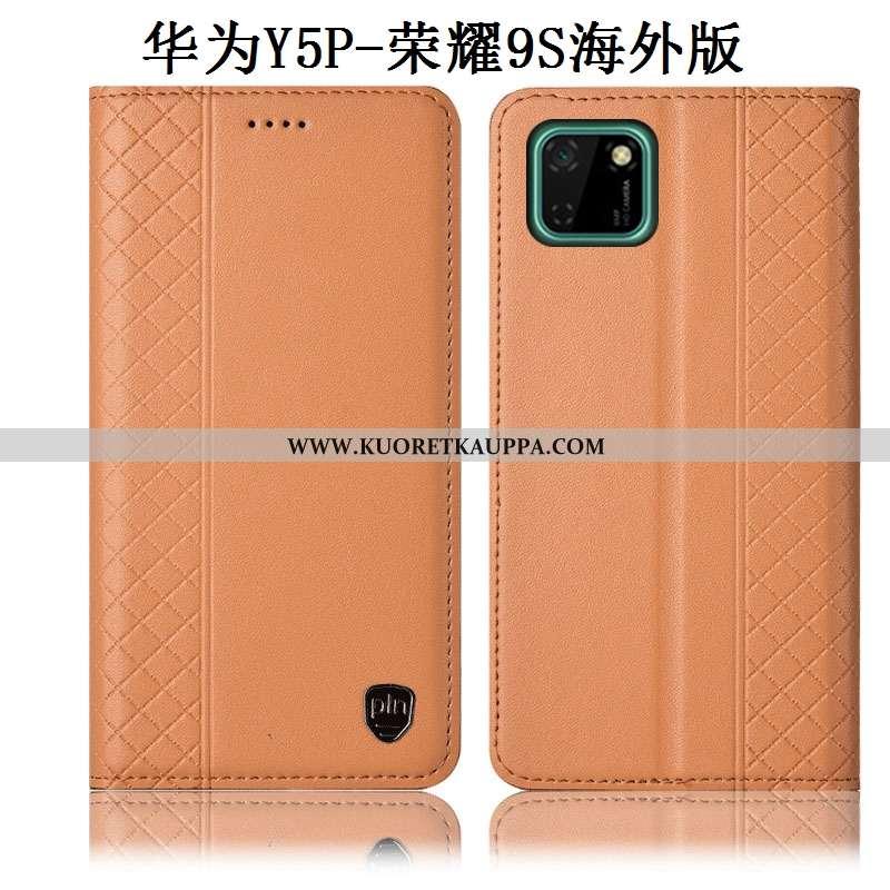 Kuori Huawei Y5p, Kuoret Huawei Y5p, Kotelo Huawei Y5p Aito Nahka Suojaus Murtumaton Puhelimen Kelta
