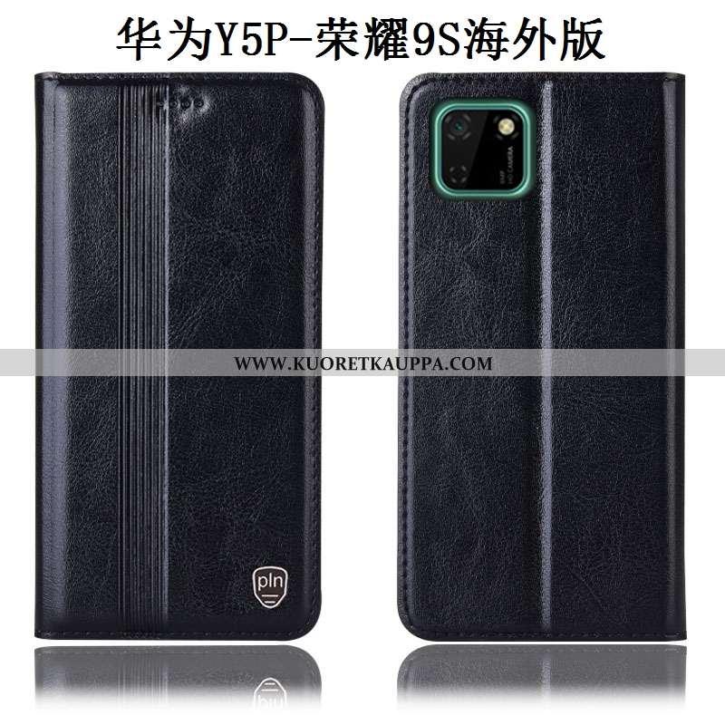Kuori Huawei Y5p, Kuoret Huawei Y5p, Kotelo Huawei Y5p Suojaus Aito Nahka Murtumaton Mustat