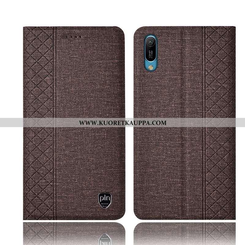 Kuori Huawei Y6 2020, Kuoret Huawei Y6 2020, Kotelo Huawei Y6 2020 Nahkakuori Pellava Puhelimen Rusk