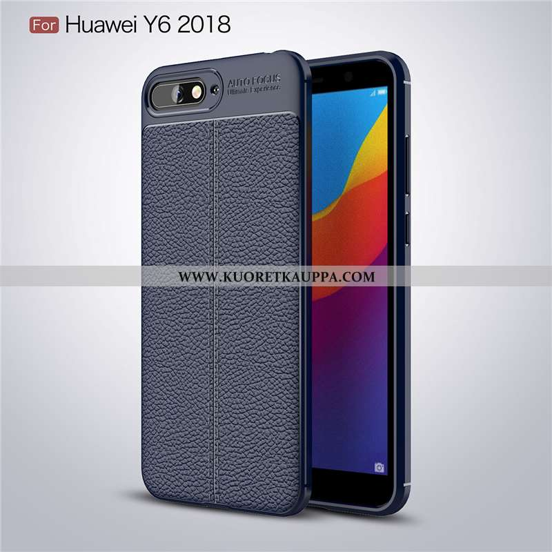 Kuori Huawei Y6 2020, Kuoret Huawei Y6 2020, Kotelo Huawei Y6 2020 Suuntaus Pehmeä Neste Tummansinin