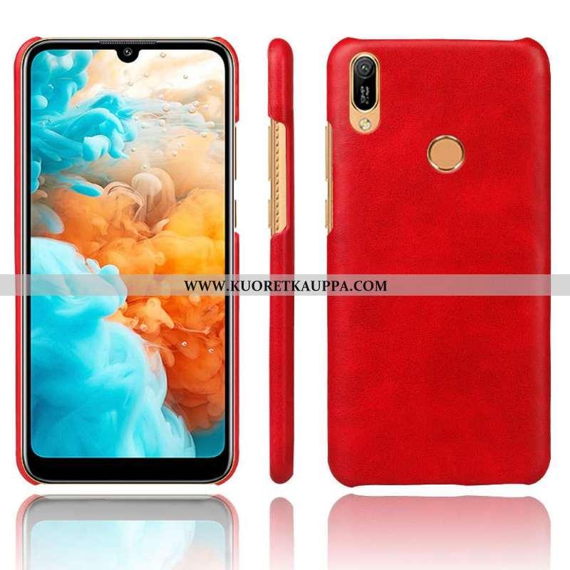 Kuori Huawei Y6s, Kuoret Huawei Y6s, Kotelo Huawei Y6s Valo Suojaus Ultra Nahka Puhelimen Punainen