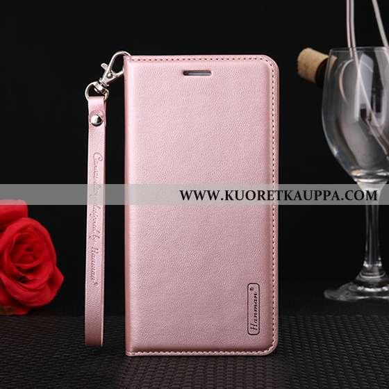 Kuori Huawei Y7 2020, Kuoret Huawei Y7 2020, Kotelo Huawei Y7 2020 Aito Nahka Suojaus Puhelimen Pink