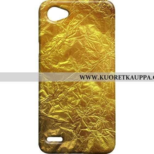 Kuori Lg Q6, Kuoret Lg Q6, Kotelo Lg Q6 Metalli Kukkakuvio Vanha Keltainen Keltaiset