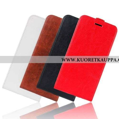 Kuori Moto E6 Plus, Kuoret Moto E6 Plus, Kotelo Moto E6 Plus Nahkakuori Salkku Punainen Liiketoimint