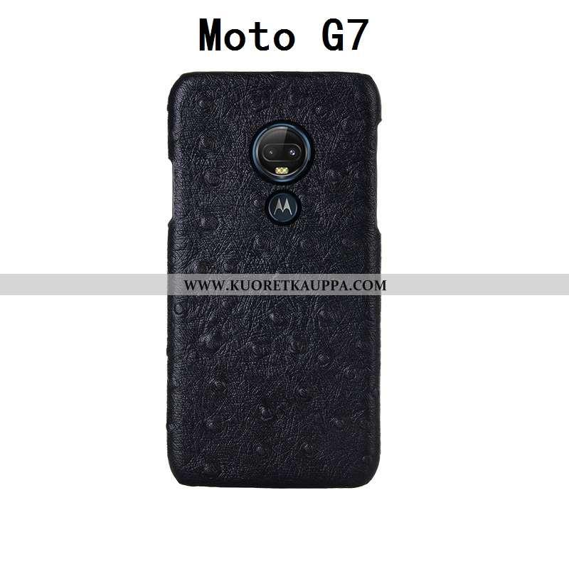 Kuori Moto G7, Kuoret Moto G7, Kotelo Moto G7 Kukkakuvio Suojaus Ylellisyys Takakansi Mustat