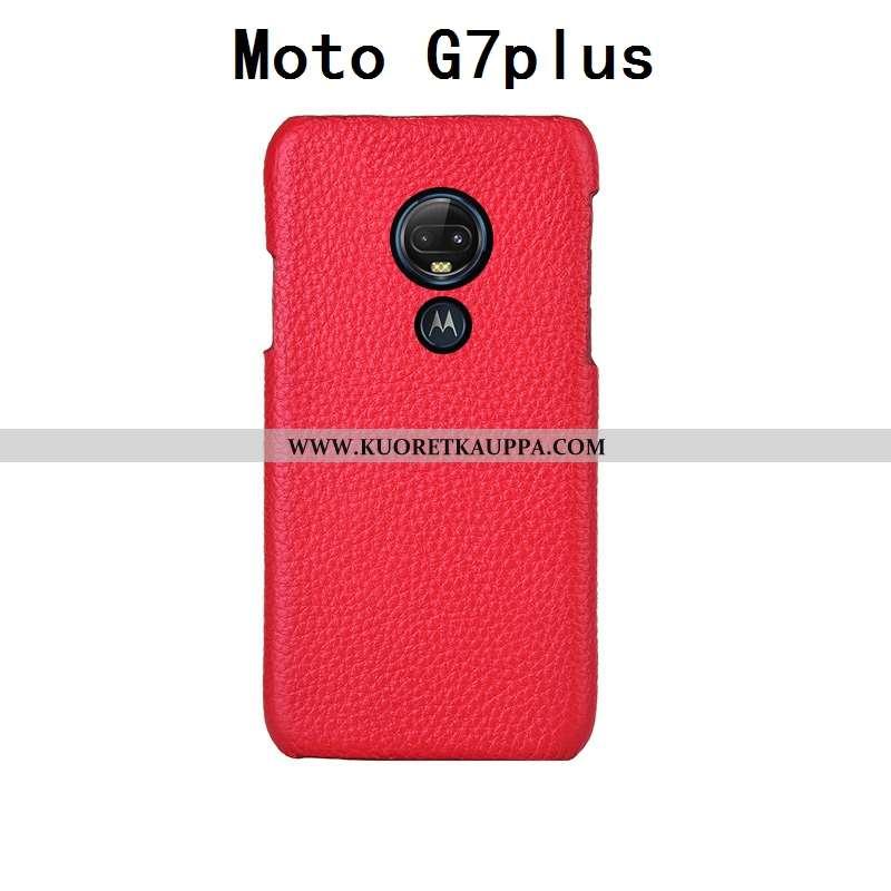 Kuori Moto G7 Plus, Kuoret Moto G7 Plus, Kotelo Moto G7 Plus Persoonallisuus Luova Aito Nahka Suojau