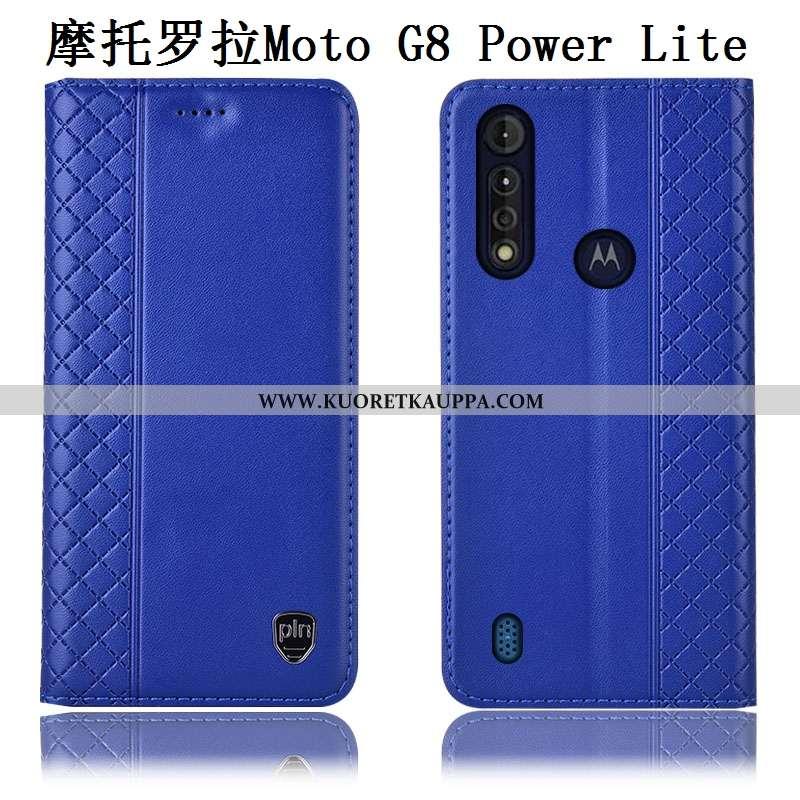 Kuori Moto G8 Power Lite, Kuoret Moto G8 Power Lite, Kotelo Moto G8 Power Lite Aito Nahka Nahkakuori