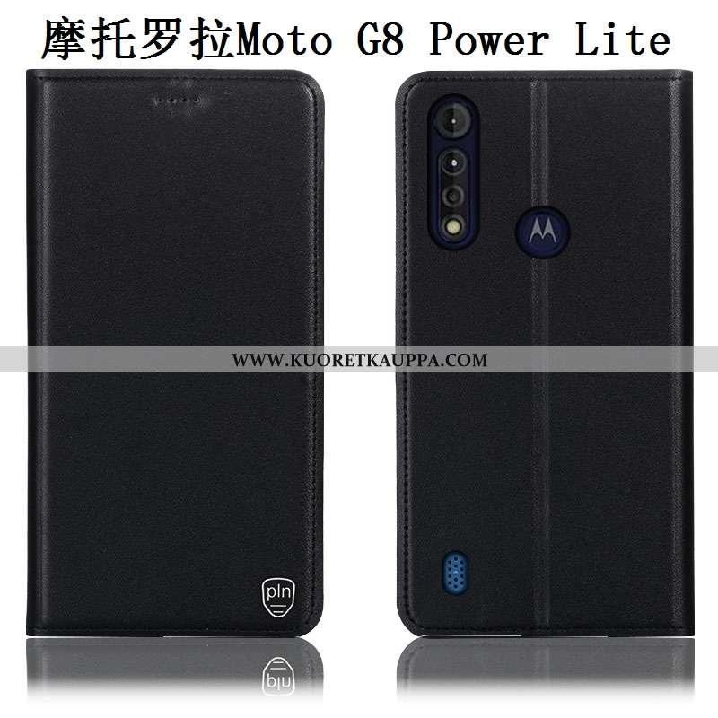 Kuori Moto G8 Power Lite, Kuoret Moto G8 Power Lite, Kotelo Moto G8 Power Lite Kukkakuvio Suojaus Pu