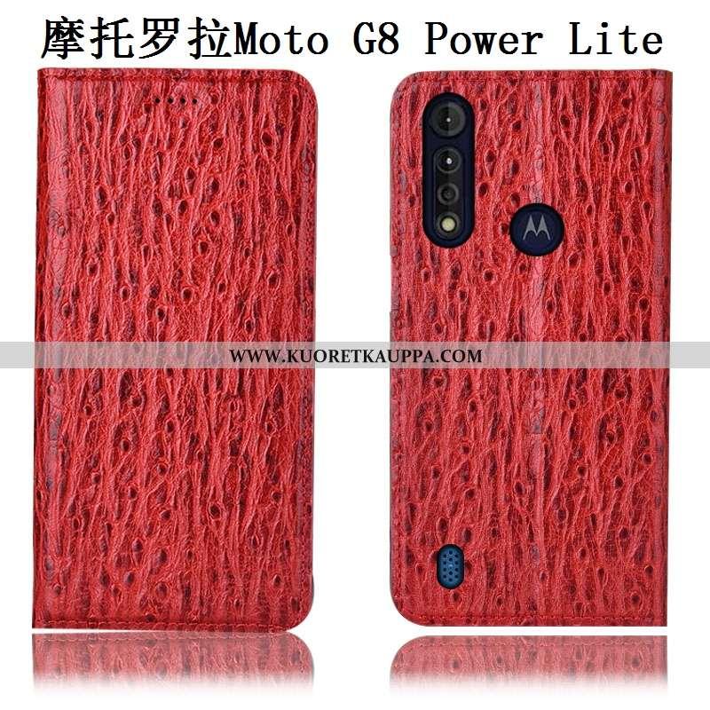 Kuori Moto G8 Power Lite, Kuoret Moto G8 Power Lite, Kotelo Moto G8 Power Lite Suojaus Aito Nahka Pu