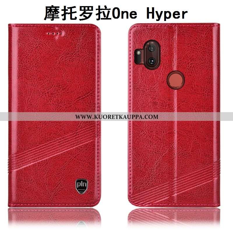Kuori Motorola One Hyper, Kuoret Motorola One Hyper, Kotelo Motorola One Hyper Aito Nahka Suojaus Mu