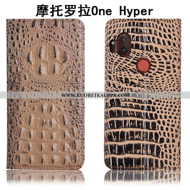 Kuori Motorola One Hyper, Kuoret Motorola One Hyper, Kotelo Motorola One Hyper Nahkakuori Suojaus Kr