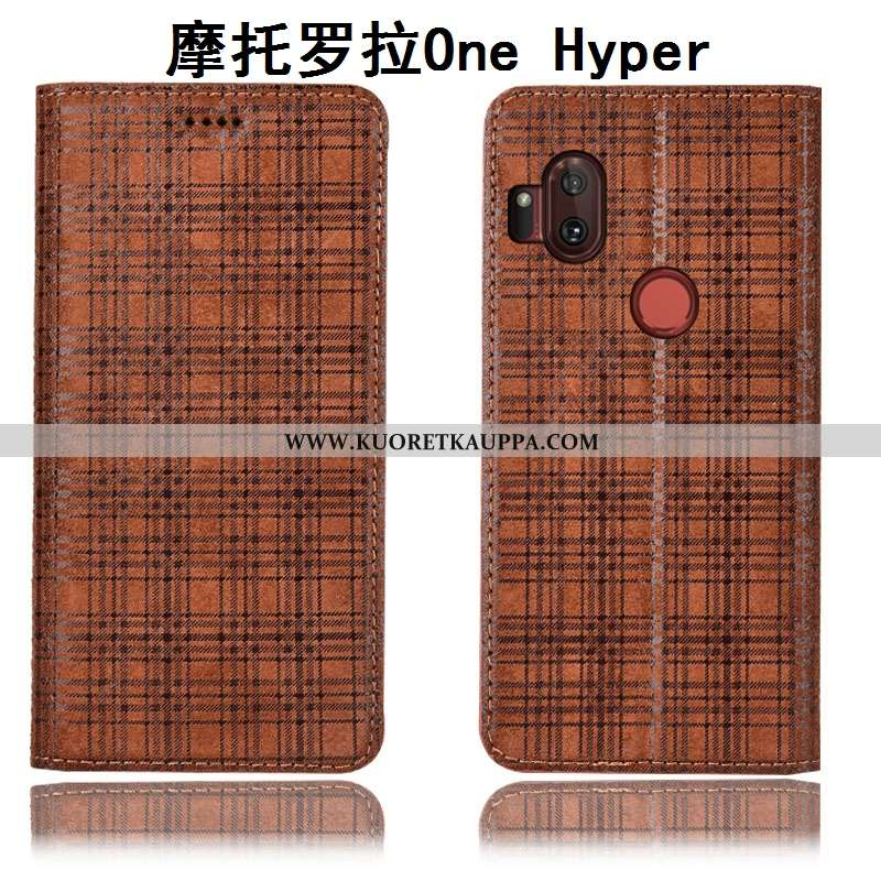 Kuori Motorola One Hyper, Kuoret Motorola One Hyper, Kotelo Motorola One Hyper Nahkakuori Suojaus Pu