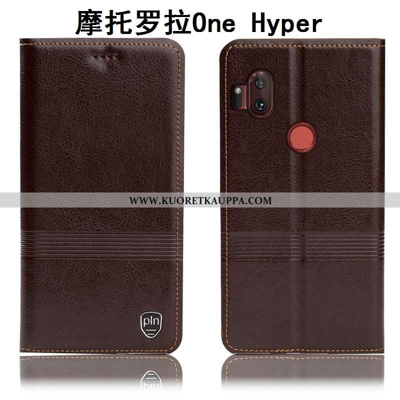 Kuori Motorola One Hyper, Kuoret Motorola One Hyper, Kotelo Motorola One Hyper Suojaus Aito Nahka Al