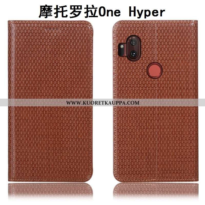 Kuori Motorola One Hyper, Kuoret Motorola One Hyper, Kotelo Motorola One Hyper Suojaus Aito Nahka Pu