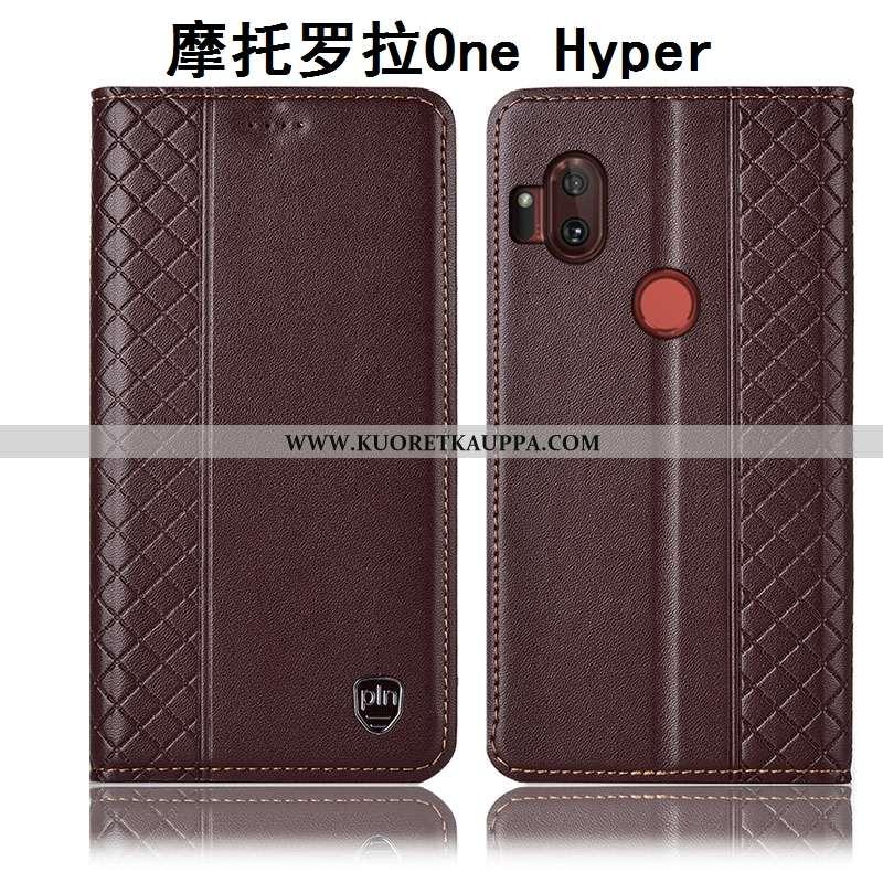 Kuori Motorola One Hyper, Kuoret Motorola One Hyper, Kotelo Motorola One Hyper Suojaus Nahkakuori Mu
