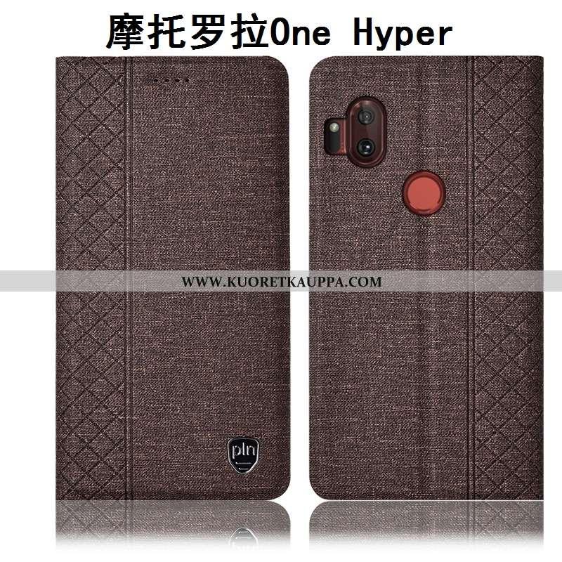 Kuori Motorola One Hyper, Kuoret Motorola One Hyper, Kotelo Motorola One Hyper Suojaus Pellava Puhel