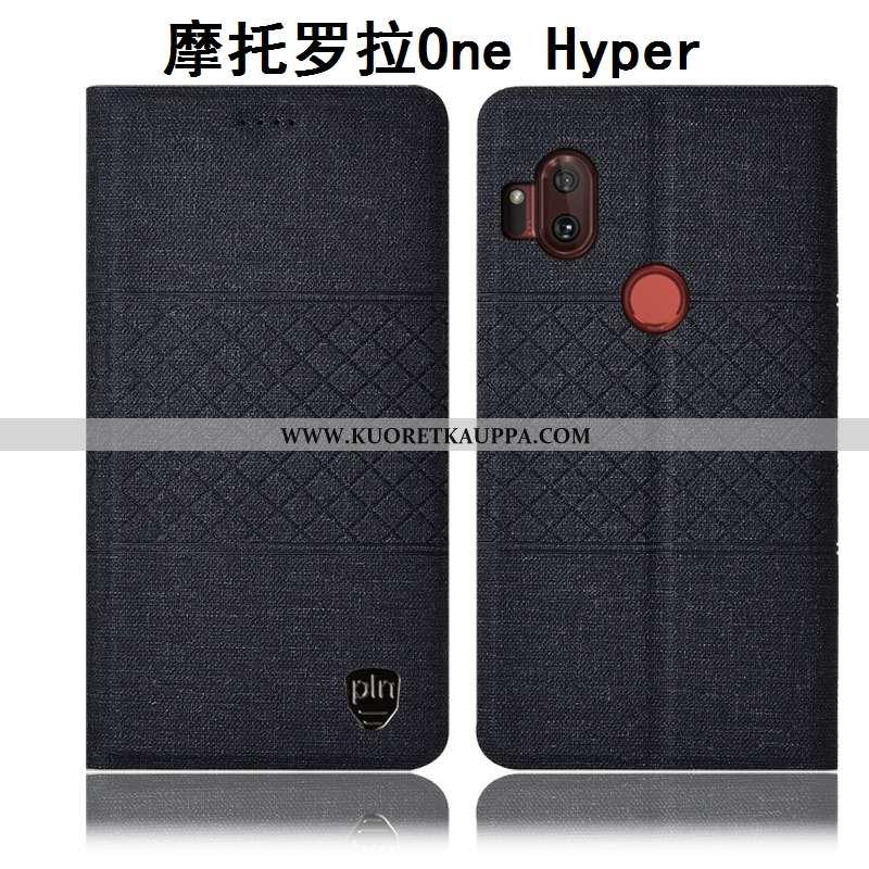 Kuori Motorola One Hyper, Kuoret Motorola One Hyper, Kotelo Motorola One Hyper Suojaus Puuvilla Must