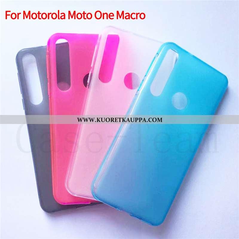 Kuori Motorola One Macro, Kuoret Motorola One Macro, Kotelo Motorola One Macro Suojaus Sininen Puhel