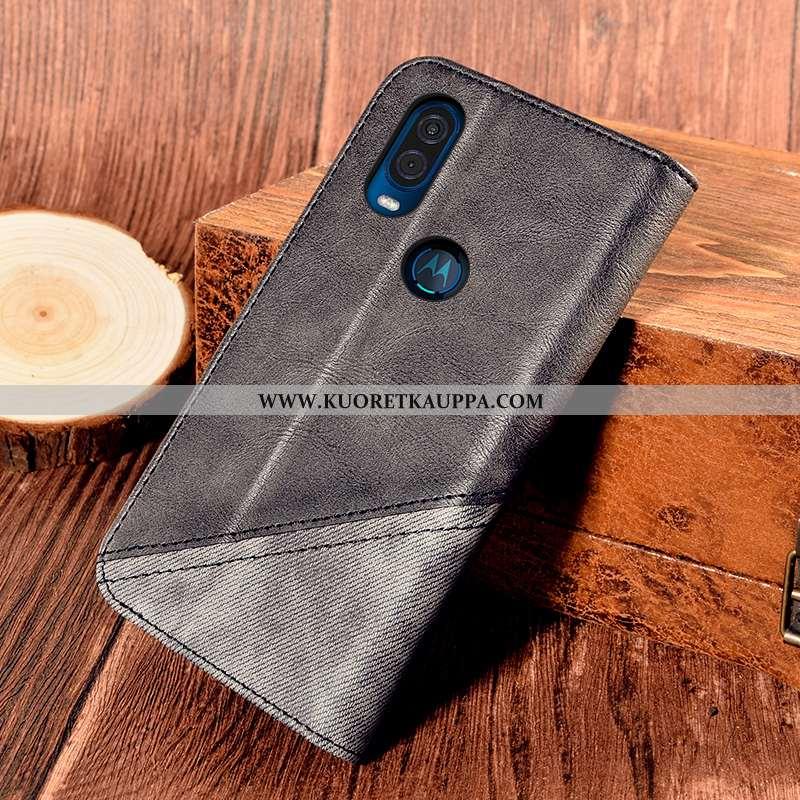 Kuori Motorola One Vision, Kuoret Motorola One Vision, Kotelo Motorola One Vision Nahkakuori Suojaus