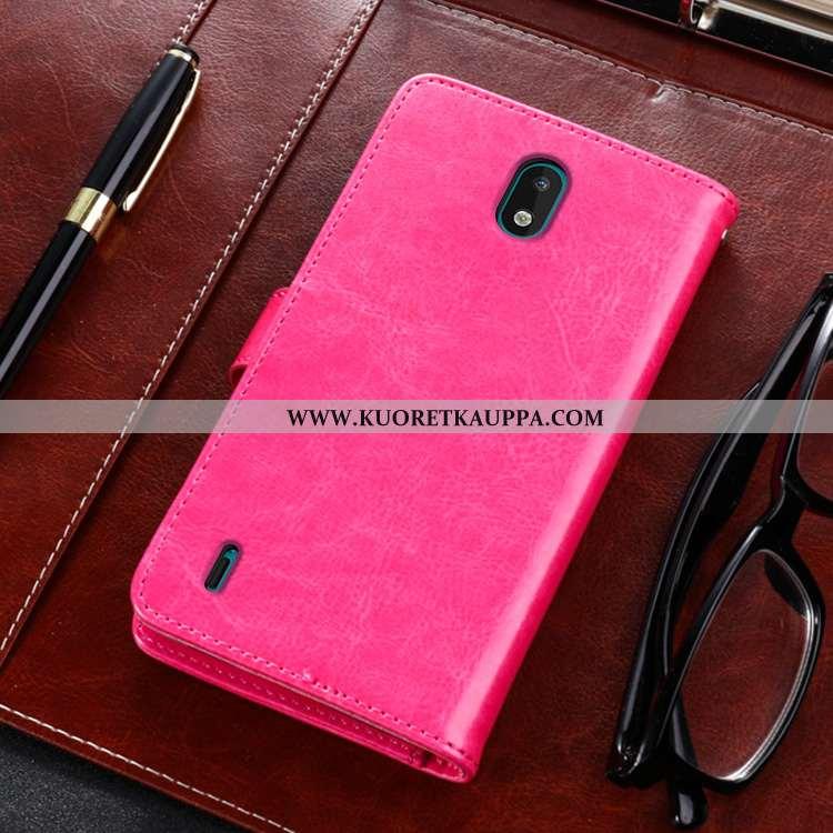 Kuori Nokia 1.3, Kuoret Nokia 1.3, Kotelo Nokia 1.3 Nahkakuori Suojaus Simpukka All Inclusive Pinkki