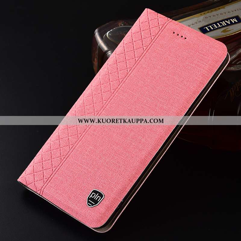 Kuori Nokia 1 Plus, Kuoret Nokia 1 Plus, Kotelo Nokia 1 Plus Pellava Suojaus Jauhe Puhelimen Pinkki