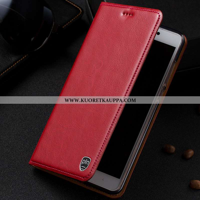 Kuori Nokia 2.1, Kuoret Nokia 2.1, Kotelo Nokia 2.1 Aito Nahka Suojaus Punainen Puhelimen