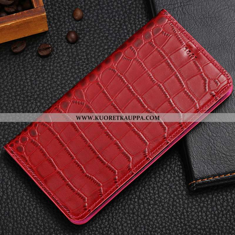 Kuori Nokia 2.1, Kuoret Nokia 2.1, Kotelo Nokia 2.1 Nahkakuori Suojaus Krokotiili Puhelimen Punainen