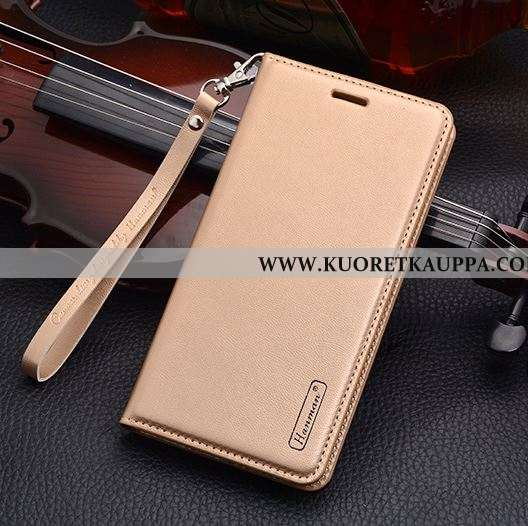Kuori Nokia 2.1, Kuoret Nokia 2.1, Kotelo Nokia 2.1 Suojaus Nahkakuori Kulta Puhelimen Kultainen