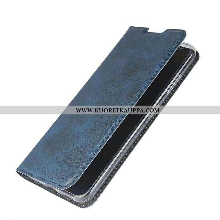 Kuori Nokia 2.2, Kuoret Nokia 2.2, Kotelo Nokia 2.2 Aito Nahka Suojaus Sininen Puhelimen