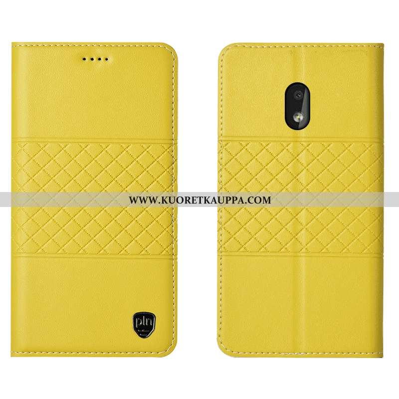 Kuori Nokia 2.2, Kuoret Nokia 2.2, Kotelo Nokia 2.2 Nahkakuori Suojaus Murtumaton Keltaiset