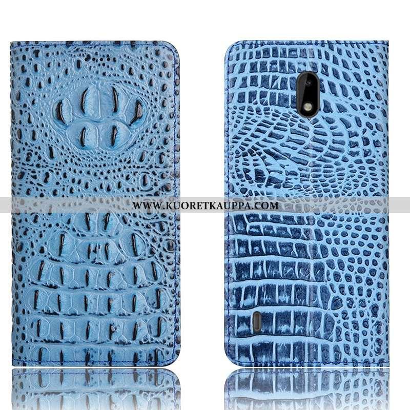 Kuori Nokia 2.2, Kuoret Nokia 2.2, Kotelo Nokia 2.2 Suojaus Nahkakuori Murtumaton Sininen
