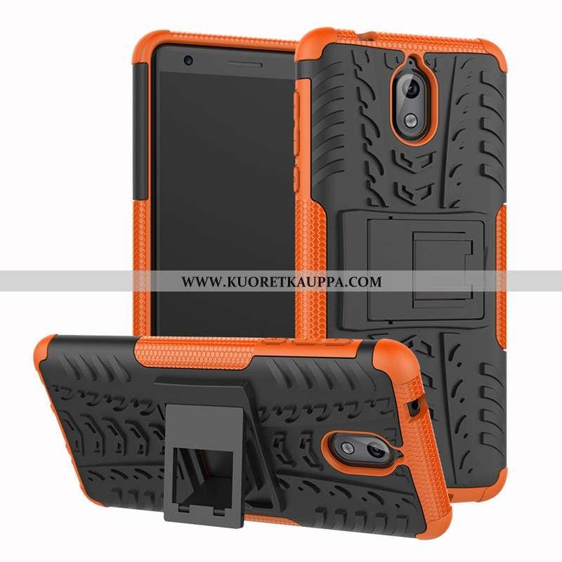 Kuori Nokia 3.1, Kuoret Nokia 3.1, Kotelo Nokia 3.1 Silikoni Suojaus Puhelimen Tuki Oranssi