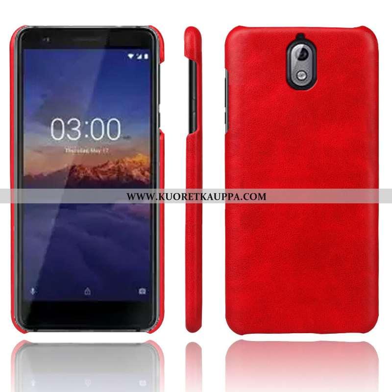 Kuori Nokia 3.1, Kuoret Nokia 3.1, Kotelo Nokia 3.1 Vuosikerta Nahka Murtumaton Punainen Suojaus