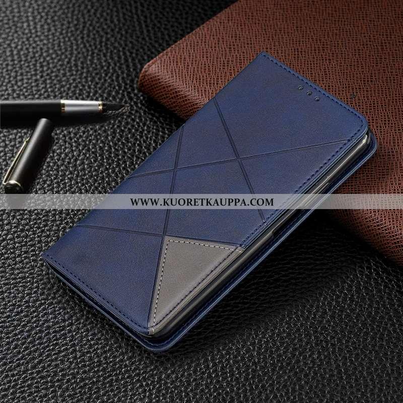 Kuori Nokia 3.1 Plus, Kuoret Nokia 3.1 Plus, Kotelo Nokia 3.1 Plus Nahkakuori Sininen Puhelimen