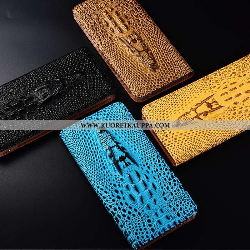 Kuori Nokia 3.1 Plus, Kuoret Nokia 3.1 Plus, Kotelo Nokia 3.1 Plus Nahkakuori Suojaus Keltainen Kelt