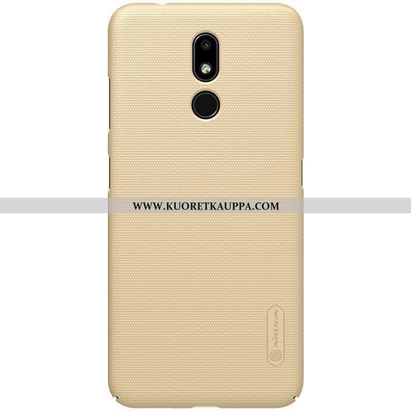 Kuori Nokia 3.2, Kuoret Nokia 3.2, Kotelo Nokia 3.2 Valo Pesty Suede Kulta Puhelimen Kultainen