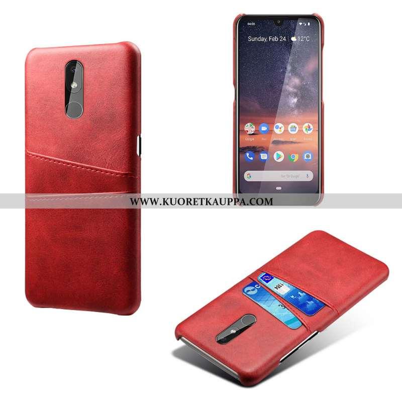 Kuori Nokia 3.2, Kuoret Nokia 3.2, Kotelo Nokia 3.2 Vuosikerta Nahka Liiketoiminta Suojaus Punainen