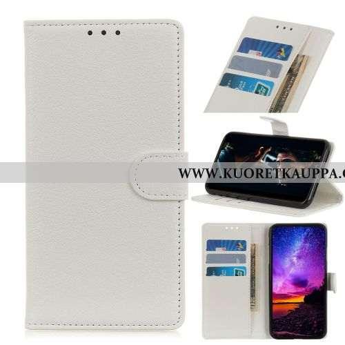 Kuori Nokia 5.1, Kuoret Nokia 5.1, Kotelo Nokia 5.1 Nahka Suojaus Valkoinen Kortti Puhelimen