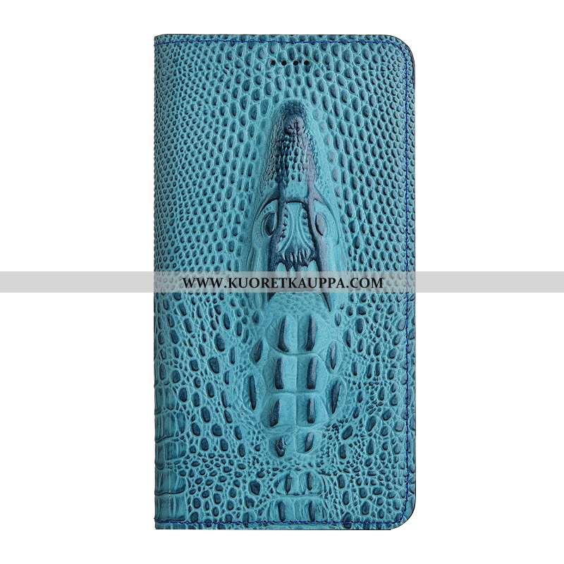 Kuori Nokia 5.1, Kuoret Nokia 5.1, Kotelo Nokia 5.1 Nahkakuori Suojaus Sininen Puhelimen