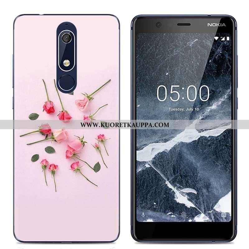 Kuori Nokia 5.1, Kuoret Nokia 5.1, Kotelo Nokia 5.1 Sarjakuva Suuntaus Jauhe Puhelimen Pinkki