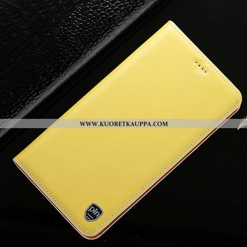 Kuori Nokia 5.1 Plus, Kuoret Nokia 5.1 Plus, Kotelo Nokia 5.1 Plus Suojaus Nahkakuori Keltainen Puhe