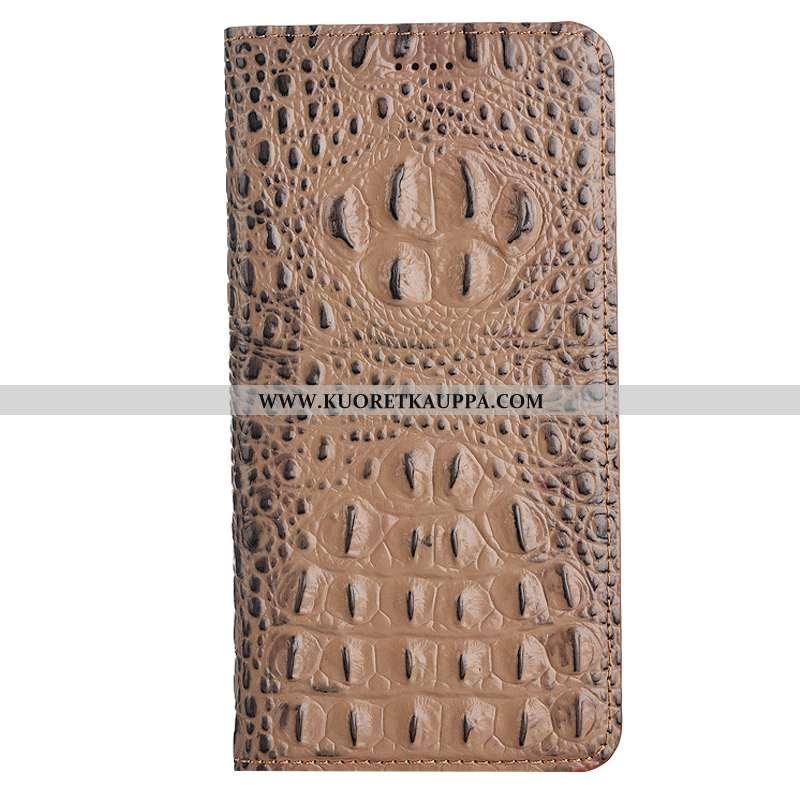 Kuori Nokia 5.1 Plus, Kuoret Nokia 5.1 Plus, Kotelo Nokia 5.1 Plus Suojaus Nahkakuori Khaki Puhelime