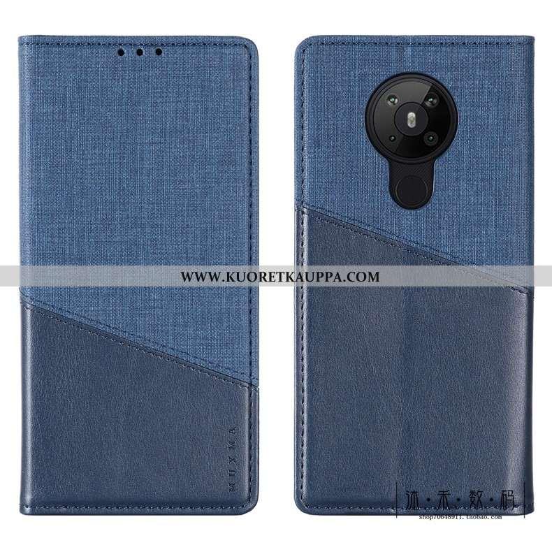 Kuori Nokia 5.3, Kuoret Nokia 5.3, Kotelo Nokia 5.3 Suojaus Nahkakuori Puhelimen Sininen